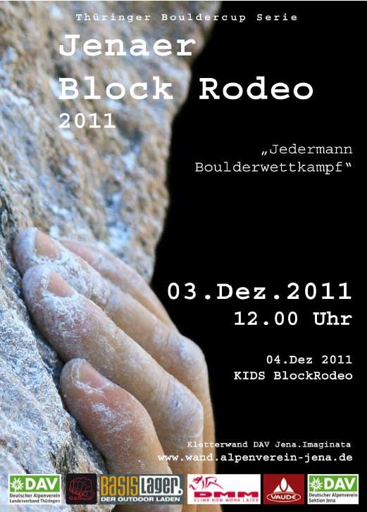Jenaer BlockRodeo 2011 - Offener Boulderwettkampf
