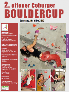 2.Coburger Bouldercup, Plakat