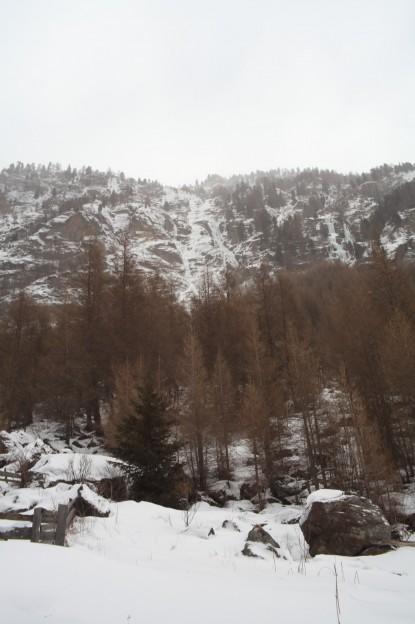 Alzenbachl Eisfall bei Zwieselstein (9 Seillängen, WI 4-)