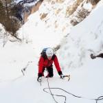 Alzenbachl Eisfall - Norbert in der 7. Seillänge