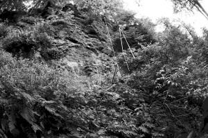 Linker Wandteil des Grottenfels
