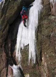Eisklettern bei Eisenach